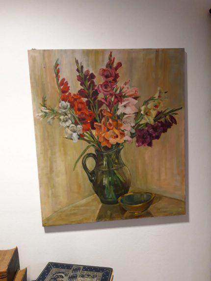 Gemälde mit Gladiolen